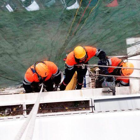 Trabajos verticales en edificaciones rehabilitación de fachadas